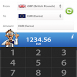 currency calculator in use